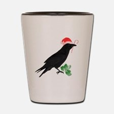 Cute Black bird Shot Glass