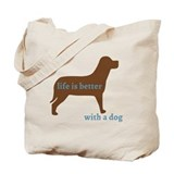 Chocolate labrador Regular Canvas Tote Bag