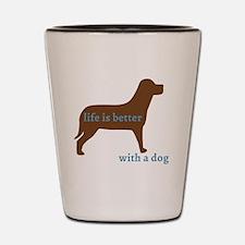 Cool I love dogs Shot Glass