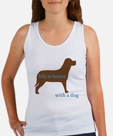 Cute Dog chocolate lab Women's Tank Top