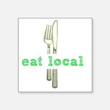 "Cute Farmers market Square Sticker 3"" x 3"""