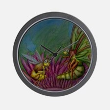 The Luna Moth and the Bee Wall Clock