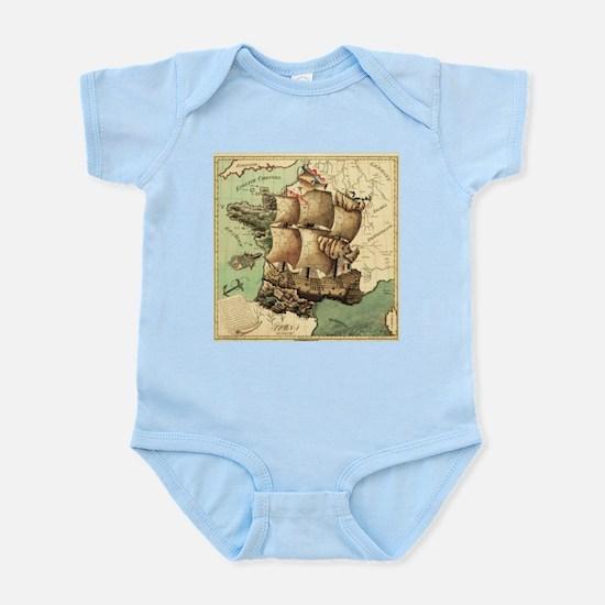 Ancient Map Infant Bodysuit