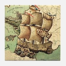 Ancient Map Tile Coaster