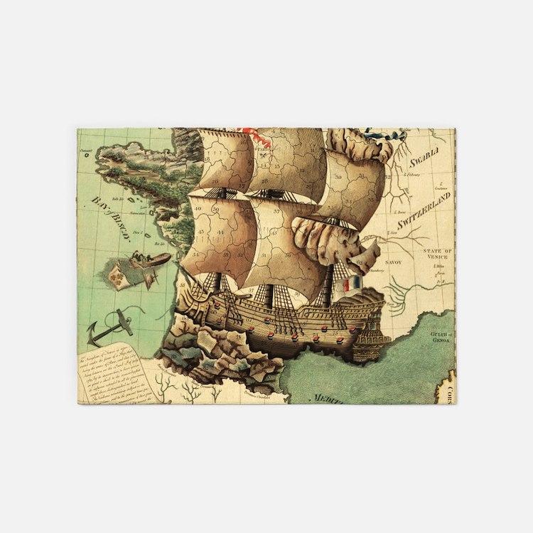 Pirate Treasure Map Rug: Pirates Treasure Map Rugs, Pirates Treasure Map Area Rugs