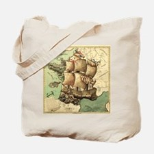 Ancient Map Tote Bag
