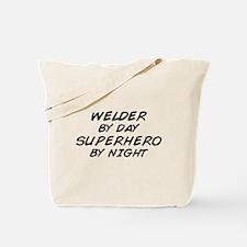 Welder Superhero Tote Bag