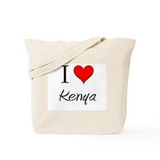 I Love Kenya Tote Bag
