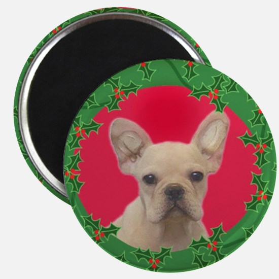 Christmas french bulldog Magnets