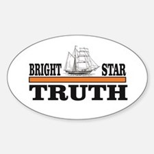 Bright star of truth orange bar Decal