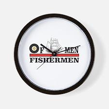 red fishermen of men Wall Clock