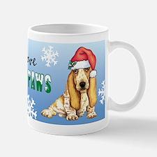 Holiday Basset Mugs