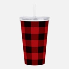 Cottage Buffalo Plaid Acrylic Double-wall Tumbler