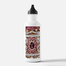girly bohemian red rhi Water Bottle