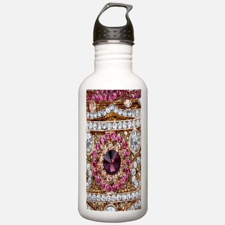 girly bohemian red rhi Water Bottle
