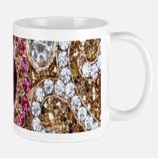 girly bohemian red rhinestone Mugs