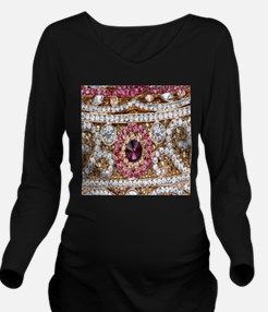 girly bohemian red r Long Sleeve Maternity T-Shirt