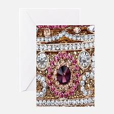 girly bohemian red rhinestone Greeting Cards