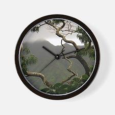 Cute Koa Wall Clock