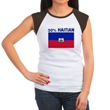 50 PERCENT HAITIAN Women's Cap Sleeve T-Shirt
