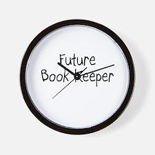 Future Book Keeper Wall Clock