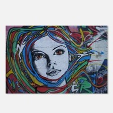 Graffiti Girl with Rainbo Postcards (Package of 8)