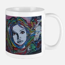 Graffiti Girl with Rainbow Hair Mugs