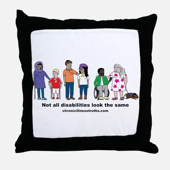Not all disabilities... Throw Pillow
