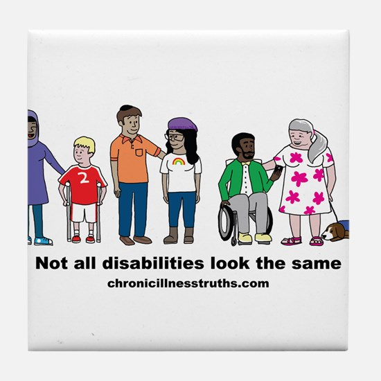 Not all disabilities... Tile Coaster