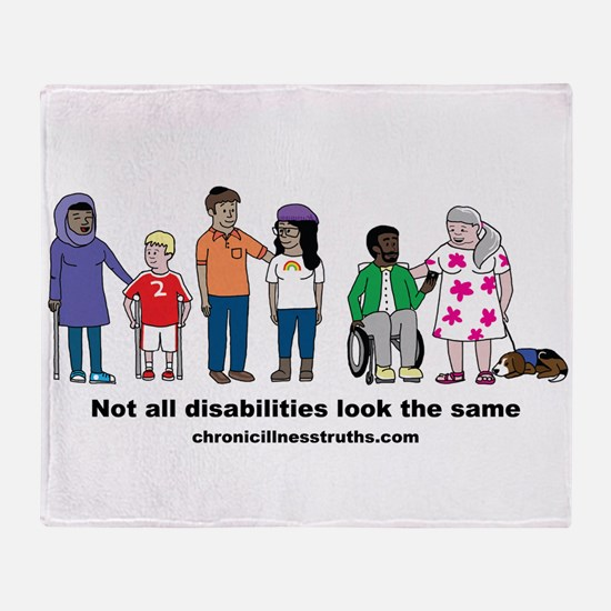 Not all disabilities... Throw Blanket