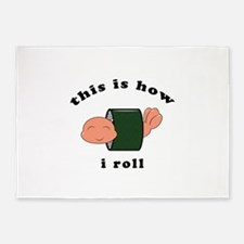 how i roll 5'x7'Area Rug