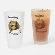 Funny Bearded dragon Drinking Glass