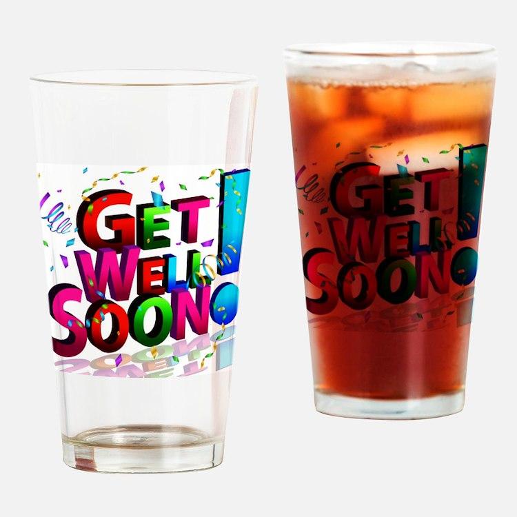 Cute Get well Drinking Glass