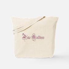 Purple Wine Goddess Tote Bag
