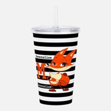 Cute Little Fox Custom Acrylic Double-wall Tumbler