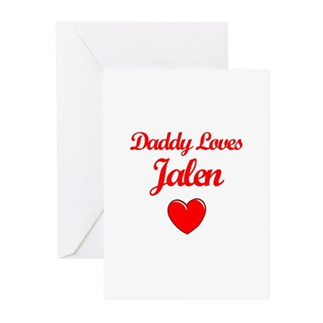 Daddy Loves Jalen Greeting Cards (Pk of 10)