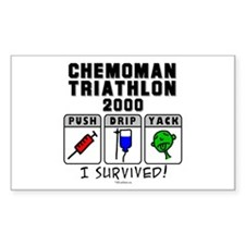 2000 Chemoman Triathlon Rectangle Decal