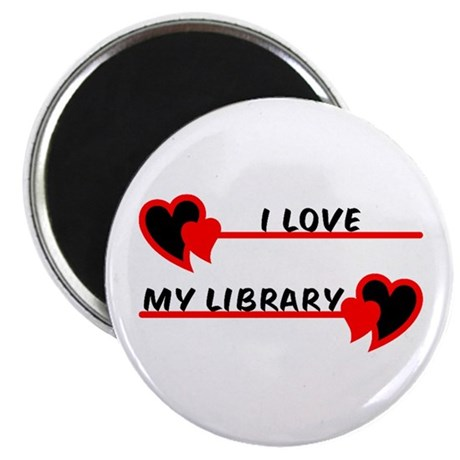 "I love My Library 2.25"" Magnet (100 pack)"
