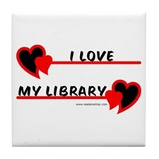 I love My Library Tile Coaster