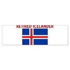 RETIRED ICELANDER Bumper Bumper Sticker