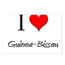 I Love Guinea-Bissau Postcards (Package of 8)