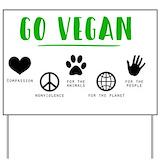 Go vegan Yard Signs