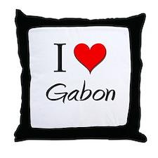 I Love Gabon Throw Pillow