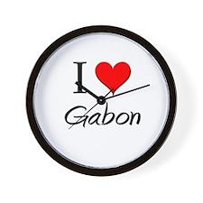 I Love Gabon Wall Clock