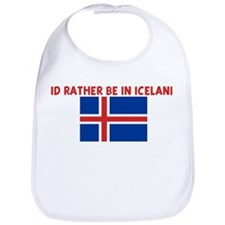 ID RATHER BE IN ICELAND Bib