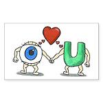 Eye Love U Rectangle Sticker