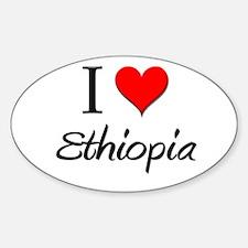 I Love Ethiopia Oval Decal