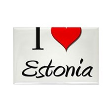 I Love Estonia Rectangle Magnet
