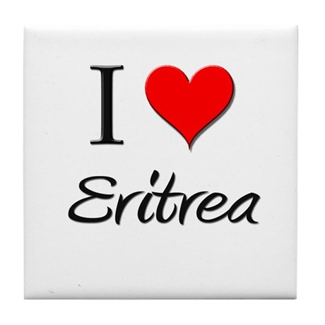 I Love Eritrea Tile Coaster