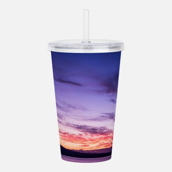 Auckland sunset Acrylic Double-wall Tumbler
